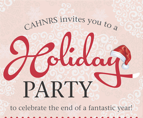 CAHNRS invites you to a holiday party!